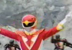 Red Ranger prepares to leap
