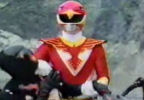 Red Ranger puts Nobody in arm lock