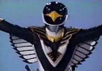Black Ranger in flight