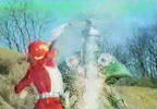 Red Ranger strikes with Talon Sword