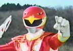 Red Ranger draws Sky Blaster