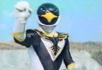 Black Ranger poses