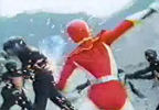 Red Ranger fights Nobodies