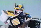 Megazord tugs on chain