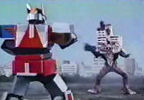 Megazord opposite Disastros