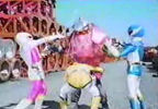 Pink Ranger slashes Facetia's Jinnsect
