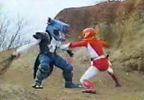 Red Ranger fights Threadletter