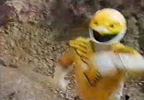 Yellow Ranger charges