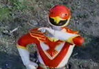 Red Ranger calls into wrist
