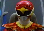 Red Ranger pushes button