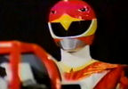 Red Ranger looks down