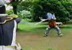 Black Ranger vs. hose