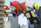 Megazord lands hard