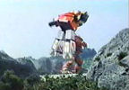 Megazord sent flying