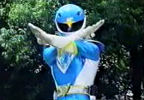 Blue Ranger's pose
