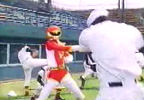 Red Ranger fends off Nobodies