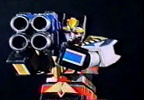 Megazord receives Quad Cannon