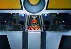 Red Ranger in Megazord cockpit