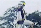 Black Ranger's Battlizer punch